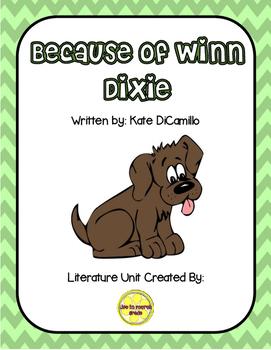 Because of Winn Dixie Comprehension Unit