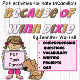 Because of Winn Dixie Comprehension, Writing, and Vocabulary Task Cards