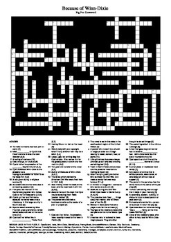 Because of Winn-Dixie - Crossword Puzzle