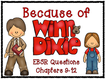 Because of Winn-Dixie Evidence Based Selected Response (EBSR) Questions