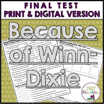 Because of Winn-Dixie Final Test