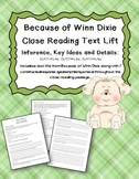 Because of Winn Dixie Inference, Key Ideas and Details Close Reading Text Lift