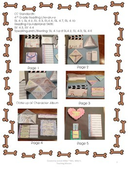 Because of Winn Dixie Interactive Big Book with foldables and Craftivity CC