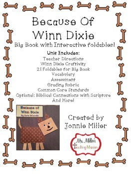 Because of Winn Dixie Interactive Big Book with foldables