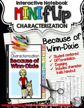 BECAUSE OF WINN-DIXIE: INTERACTIVE NOTEBOOK CHARACTERIZATION MINI FLIP