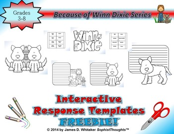 Because of Winn-Dixie Interactive Notebook Response Templates