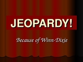 Because of Winn-Dixie Jeopardy Game