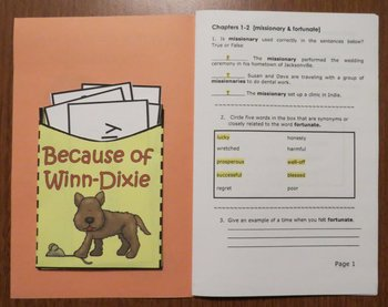 Because of Winn Dixie [Kate DiCamillo] Abridged Printable Book Unit