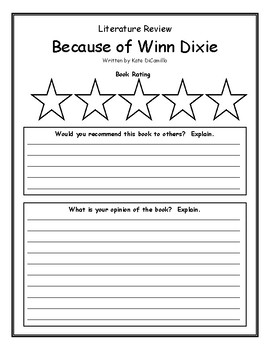 Because of Winn Dixie Kate DiCamillo Book Review Opinion Comprehension Rating