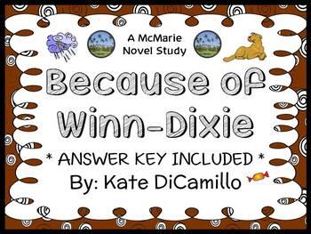 Because of Winn-Dixie (Kate DiCamillo) Novel Study / Reading Comprehension