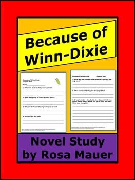 Because of Winn-Dixie Comprehension Unit