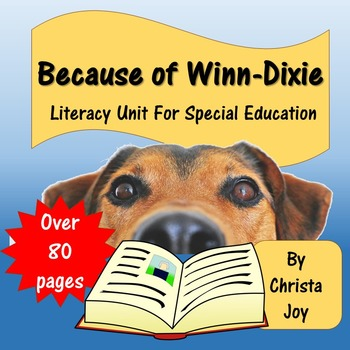 Because of Winn-Dixie Novel Study for Special Education