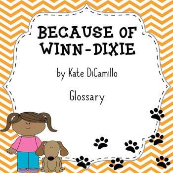 Because of Winn Dixie Novel Glossary