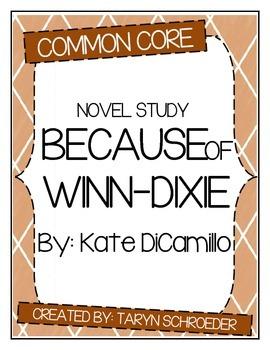 Because of Winn-Dixie - Novel Study