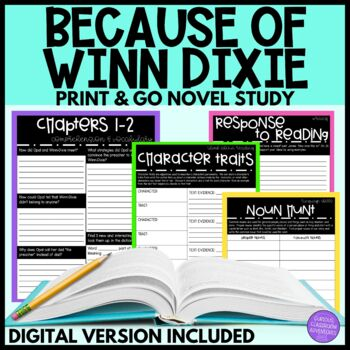 Because of Winn Dixie Novel Study