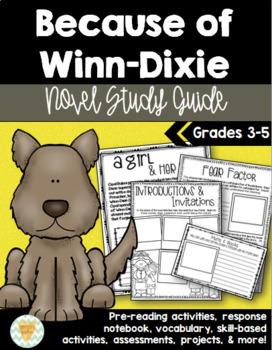 Because of Winn Dixie Novel Study