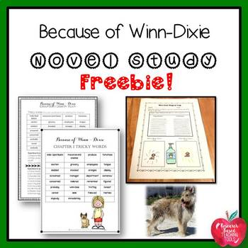 Because of Winn-Dixie Novel Study Based on Bloom's Revised Taxonomy Freebie!