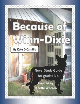 Because of Winn-Dixie Novel Study Guide