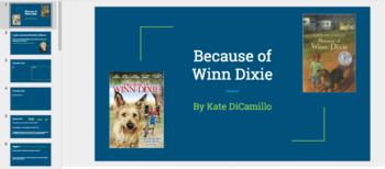 Because of Winn Dixie Novel Study Print and Write and Google Slide versions