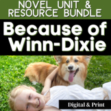 Because of Winn-Dixie Novel Study BUNDLE | GOOGLE - DIGITA