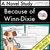 Because of Winn-Dixie Novel Study Unit Distance Learning
