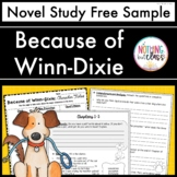 Because of Winn-Dixie Novel Study Unit: FREE Sample