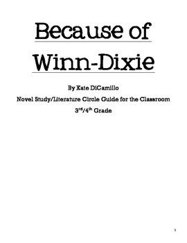 Because of Winn-Dixie Novel Study/Literature Circle Guide