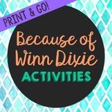 Because of Winn Dixie Novel Unit Study Activities, Book Companion Worksheets