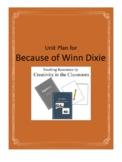 Because of Winn Dixie Novel Unit Plus Grammar