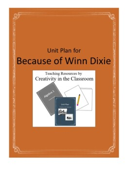 Because of Winn Dixie Novel Unit Plus Grammar