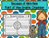 Because of Winn-Dixie Opal's Friendships Point of View Graphic Organizer RL.3.6