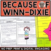 Because of Winn-Dixie MEGA Packet: A Novel Study of the book by Kate DiCamillo
