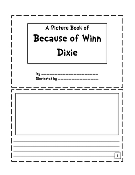 Because of Winn Dixie Picture Book Activity & Rubric