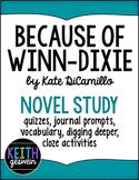 Because of Winn-Dixie Novel Study Bundle (Distance Learning)