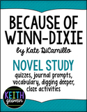 Because of Winn-Dixie Novel Study Bundle (Distance Learning)