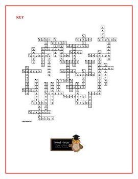 Because of Winn-Dixie: Prereading Vocabulary Crossword—50 words!