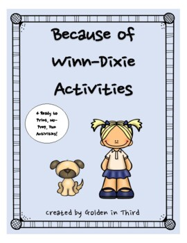 Because of Winn Dixie Printable Activity Set