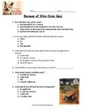 Because of Winn-Dixie Quiz