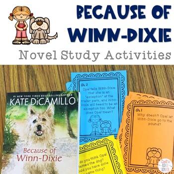 Because of Winn Dixie Novel Study Activities