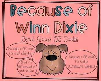 Because of Winn Dixie Read Aloud QR Codes