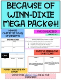 Because of Winn-Dixie 50 Read Aloud Questions, 9 Character Analysis + 5 Quizzes!