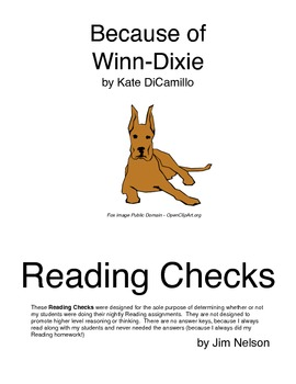 Because of Winn-Dixie Reading Check Questions