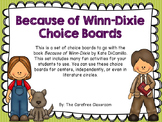 Because of Winn-Dixie Reading Choice Boards