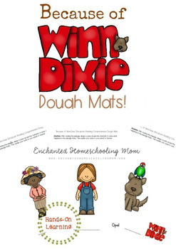 Because of Winn-Dixie Reading Comprehension Dough Mats