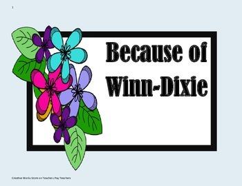 Because of Winn-Dixie -  Tri folds + Activities