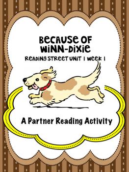 Because of Winn-Dixie  Reading Street 4th grade Unit 1 Week 1 centers group work