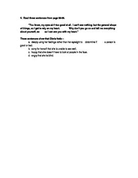 Because of Winn Dixie STAAR Stem Questions Ch. 8-9