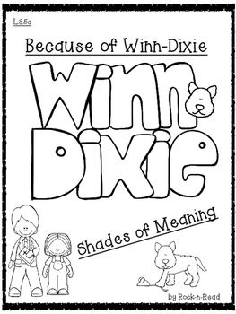 Because of Winn-Dixie Shades of Meaning Dialogue Tag Printables