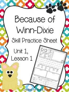 Because of Winn-Dixie (Skill Practice Sheet)