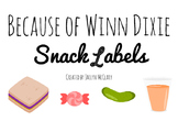 Because of Winn Dixie Snack Labels